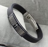 Cool Style Stainless Steel Letters Silicone Bracelets
