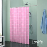 Shower Curtain Bathroom Waterproof Curtain (JG-232)