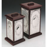 Silver Plated with Wooden Money Box (BW 10192 DLR, BW 10192 DMR)