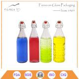 Set of 3 Glass Swing Top Bottle for Beer/Glass Liqueurs Bottles