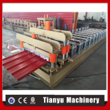 Gear Box Ce ISO Glazed Steel Roof Tile Roll Forming Machine