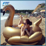Stick Giant Inflatable Gold Swan Pool Float
