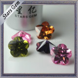 Billiant Cut Flower Shape Synthetic Zircon Stone