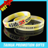 Cheap Custom Silicone Bracelets Maker Silicone Wrist Band (TH-08883)
