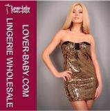 Stylish Golden Shine Hot Club Dresses 2012 Clubwear (L2408-2)