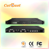 1080P MPEG4/MPEG2 Encoder Modulator with 4 HDMI/SDI Input and Asi RF Output