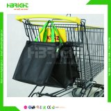 80g Promotional Handle Non Woven Foldable Shopping Cart Bag