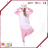 New Arrival High Quality Pink Unicorn Cute Cosplay Adult Winter Pajamas for Women
