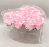 Widely Used Packaging Luxury Clear Heart Shaped Acrylic Flower Box