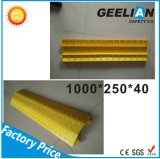 2-Channel Rubber Cable Protector Ramps Cord Cover with 20 Ton Weight Capacity 1000 * 250 * 50 mm