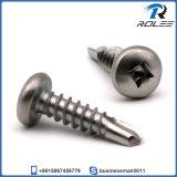 304/316/410 Stainless Steel Square Pan Head Self Drilling Tek Screw