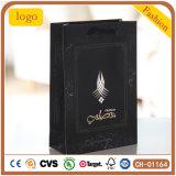Black Luxury Hot Stamping Diamonds Gem Chain Gift Paper Bag