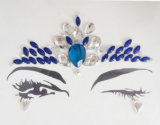 Acrylic Stone Face Jewelry Eyebrows Forehead Tattoo Stickers (S002)
