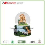 Polyresin Craft Gift 80mm Water Globe with Animal Figurines for Home Decoration and Promotional Gifts