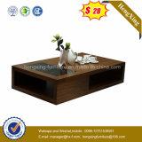 Wooden Furniture Fashion Design Melamine Glass Coffee Table (HX-CF014)
