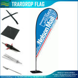 120GSM Knitted Polyester Outdoor Custom Design Teardrop Flag (J-NF04F06081)