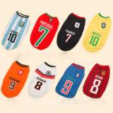 Cool Pet Shirt Dog World Cup Football Jersey for Pups