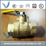 Ductil Iron Forged Brass FM Listed Ball Valve 600wog