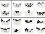 3D Rhinestone Flower Butterfly Nail Art Stickers Nail Sticker