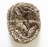 Hot Selling Clssic Animal Printing Infinity Polyester Scarf (HWBPS097)