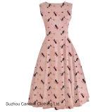 Clothing Manufacturer Vintage Women Pink Kitten 1950s Rockabilly Pinup Dress