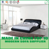 Modern Elegant Bedroom Set Wooden Leather Bed