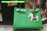 Manufacturer Women Fashion Bags Dark Green Silver Clasp Package