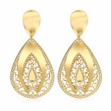 Water Drop Gold Earrings 18k Gold Zircon Earrings Jewelry