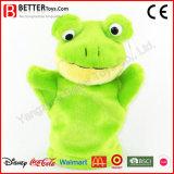 Wholesale Plush Stuffed Animal Frog Toy Hand Puppet
