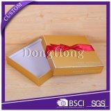 Elegant Bowknot Decoration Glossy Cardboard Wedding Gift Box