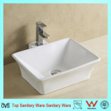 Bathroom White Wash Basin in Simple Style