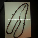 Wood Prayer Beads, Wood Rosary Beads, Muslim Wood Beads