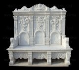 Stone Carving Side Chair (BNH317)