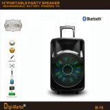 15′′ Multimedia Party DJ Wireless Karaoke Trolley Bluetooth Active Speaker