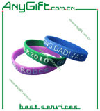Silicon Wristband with Customized Logo and Color
