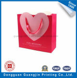 Unique Heart Shape Paper Gift Bag with Matt Lamination