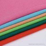 Novelty Top Quality CVC 66%C34%T Cotton Warp Knitted Rib Stripe Fabric for T-Shirt Dress