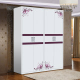 Customized Steel 4 Doors Large Living Room Wardrobe