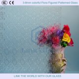 3-8mm Colorful Flora Rolled Textured Figured Patterned Glass