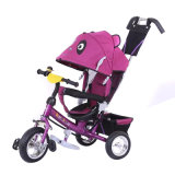 Vehicle Toys Baby Carriage Tricycle with Push Rod