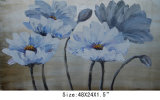 Modern New Design Decorative Flower Oil Painting on Canvas (LH-700594)