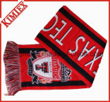 100% Acrylic Customs Promotion Single Layer Woven Soccer Fans Scarf