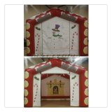 Top Quality Paintings Inflatable Santa′s Grotto Bounce House Hot Sale