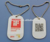 Printing Qr Dog Tags Keychain, Company Logo on Dog Tag