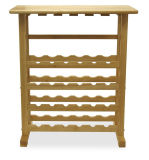 24 Solid Wood Wine Rack with Dark Paint