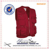 OEM Factory Price Men Workwear Fishing Multi Pockets Vest