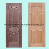 Cheap MDF HDF Melamine/ White Primer/ Veneer Mould Laminated Door Skin