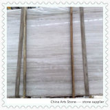 Wooden White Chinese Marble Slab for Engineering Tiles