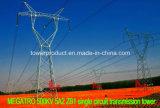Megatro 500kv 5A2 Zb1 Single Circuit Transmission Tower