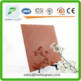 4mm Red Rose Patterned /Aluminium/Patterned Aluminium Mirror